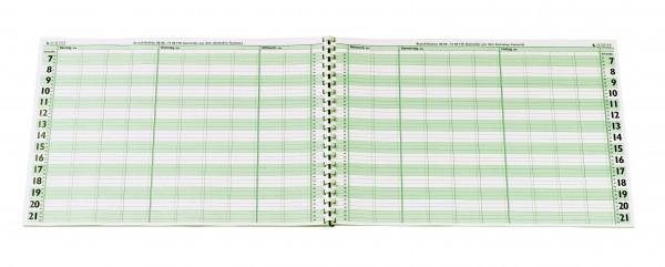 Terminplaner-Heft DIN A 3 - 4 Spalten