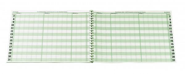 Terminplaner-Heft DIN A 3 - 6 Spalten