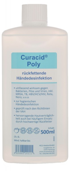 Curacid Poly Händedesinfektion 500 ml