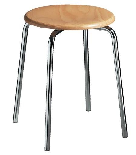 Gymnastikhocker mit Holzsitz